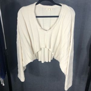 Cropped batwing sweater